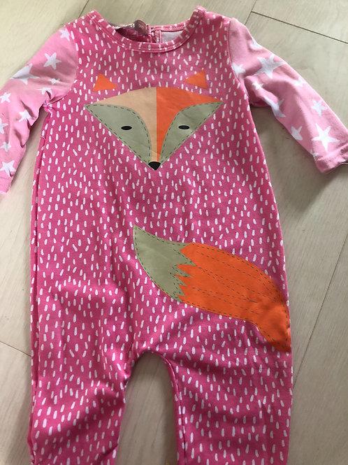Pink fox sleep/playsuit