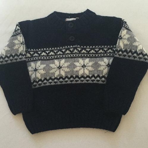 Snowflake chunky knit jumper