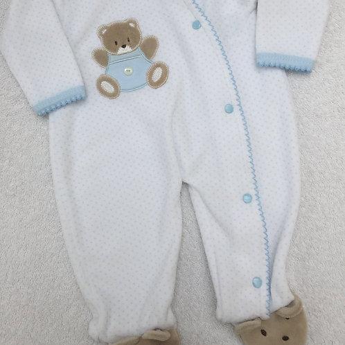 Blue and white bear sleepsuit