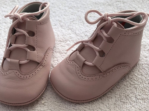 Aladino pink leather baby boots
