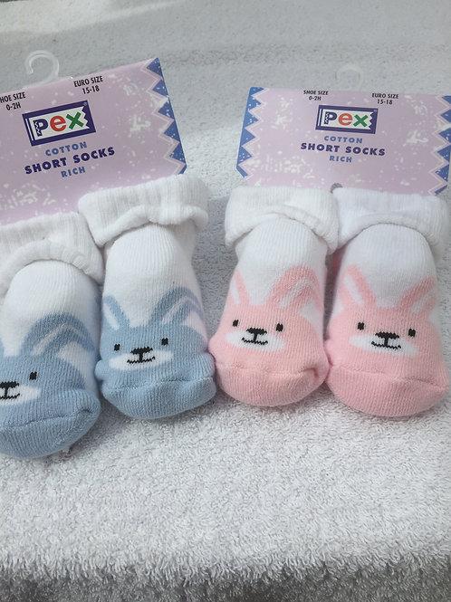 Rabbit bootee socks