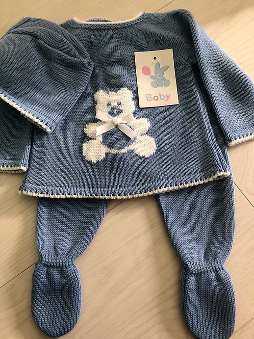 Teddy 3 piece knitted set