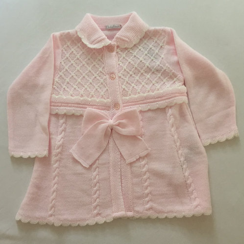 Knitted long cardigan / matinee coat