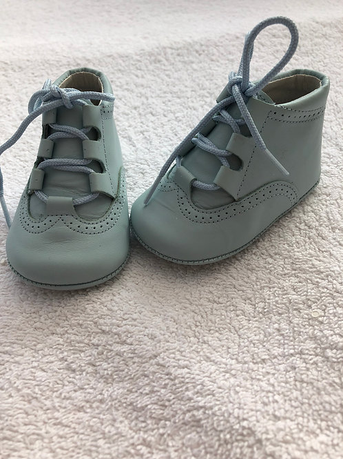 Aladino pale blue leather baby boots