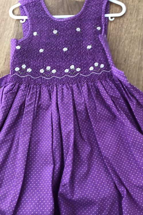 Mafana purple smocked dress