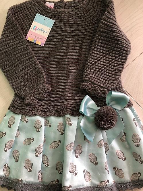 Penguin knitted dress