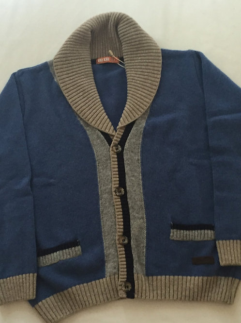 Blue, grey and black boy's cardigan