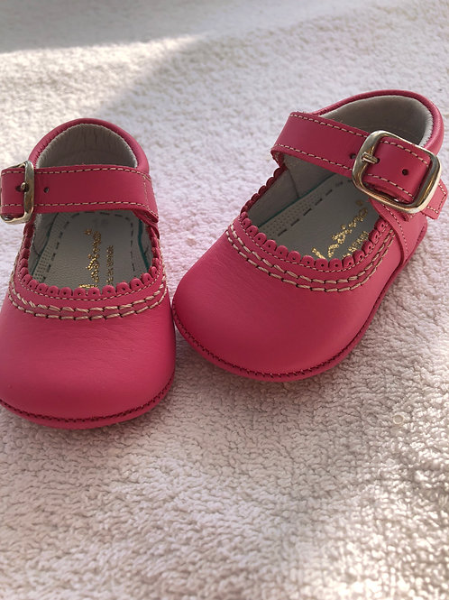 Aladino pink baby shoes