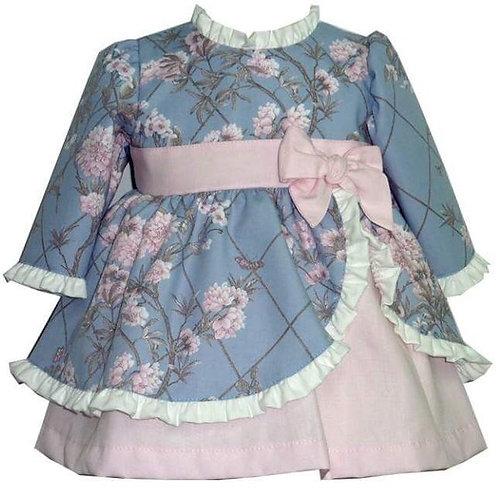 Alber pink and blue floral dress