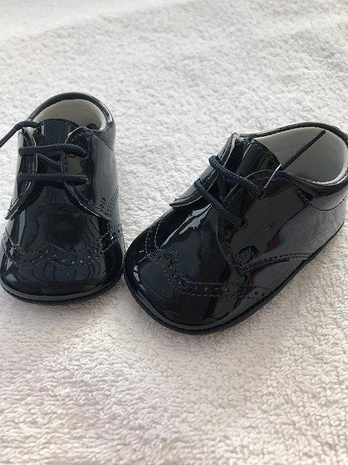 Aladino black patent bootees