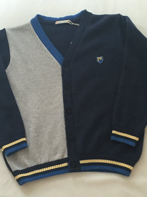 Navy and grey cardigan