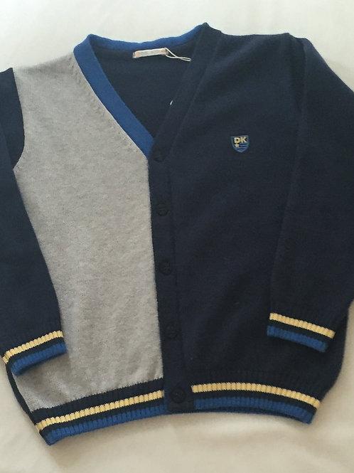 Navy and grey cardigan