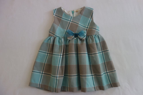 Aqua plaid dress
