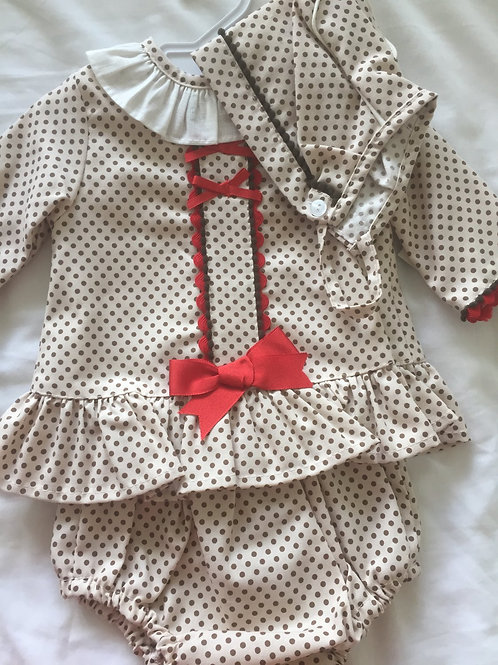 Girl's spotty 3 piece outfit