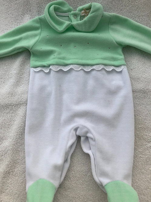 Mintini diamanté sleepsuit