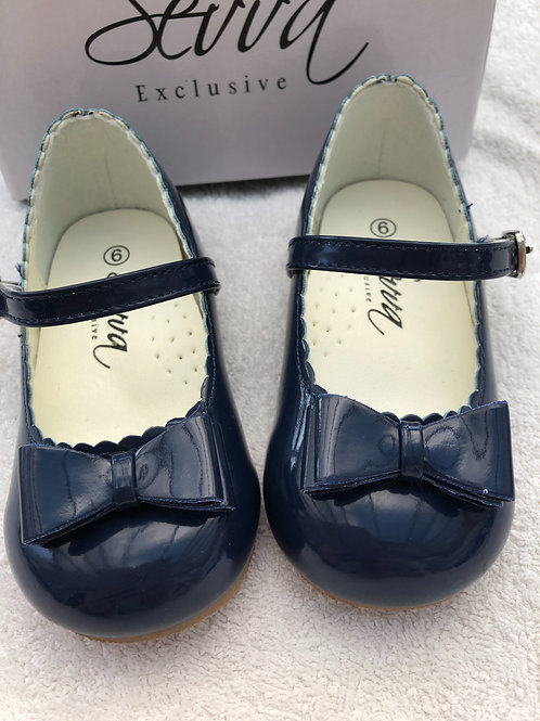 Navy patent shoes from Sevva