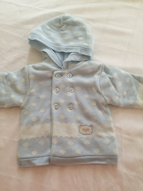 Teddy hooded fleece lined cardigan
