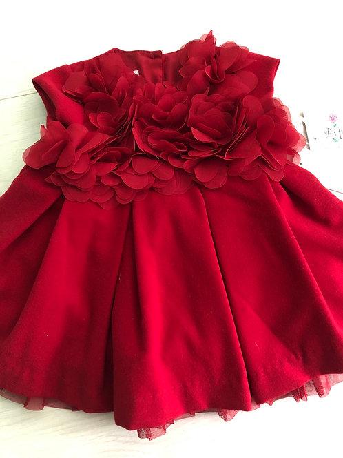 Red flowers dress