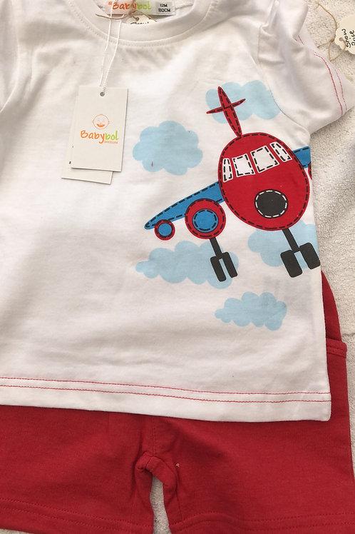 Plane shirt and shorts set