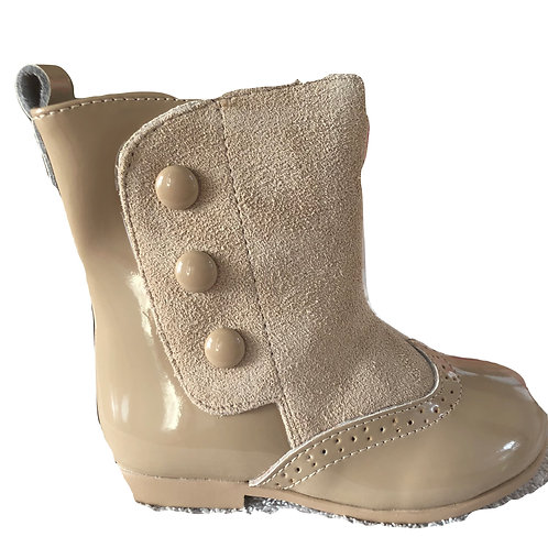 Spanish leather boots- sand