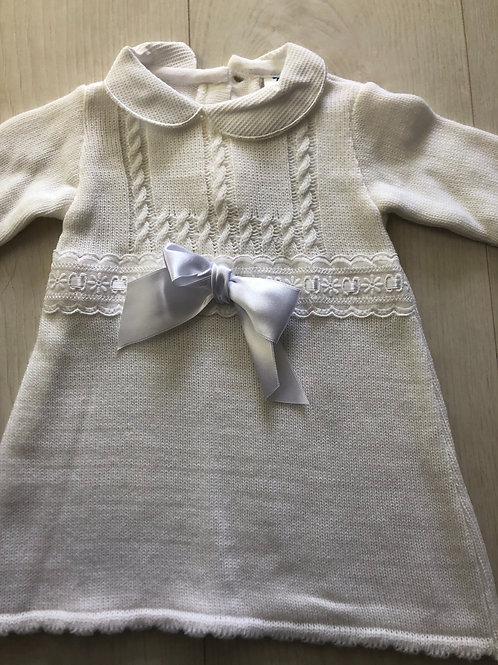 Cream knitted dress