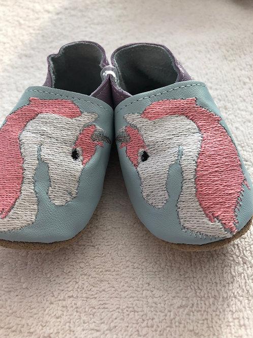 Born BespokeUnicorn leather baby shoes