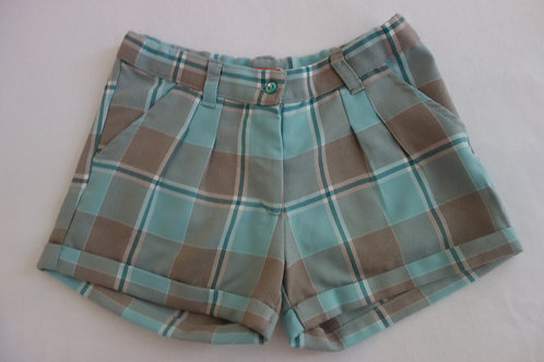 Aqua plaid winter shorts