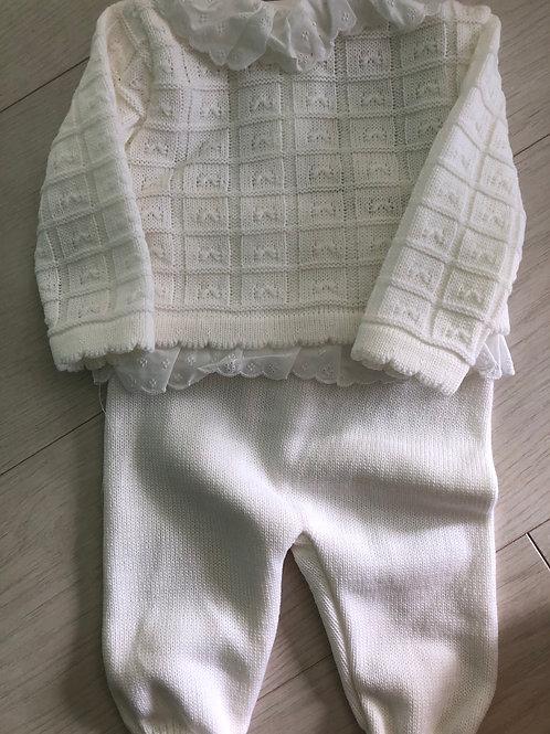 Pex 2 piece cream outfit