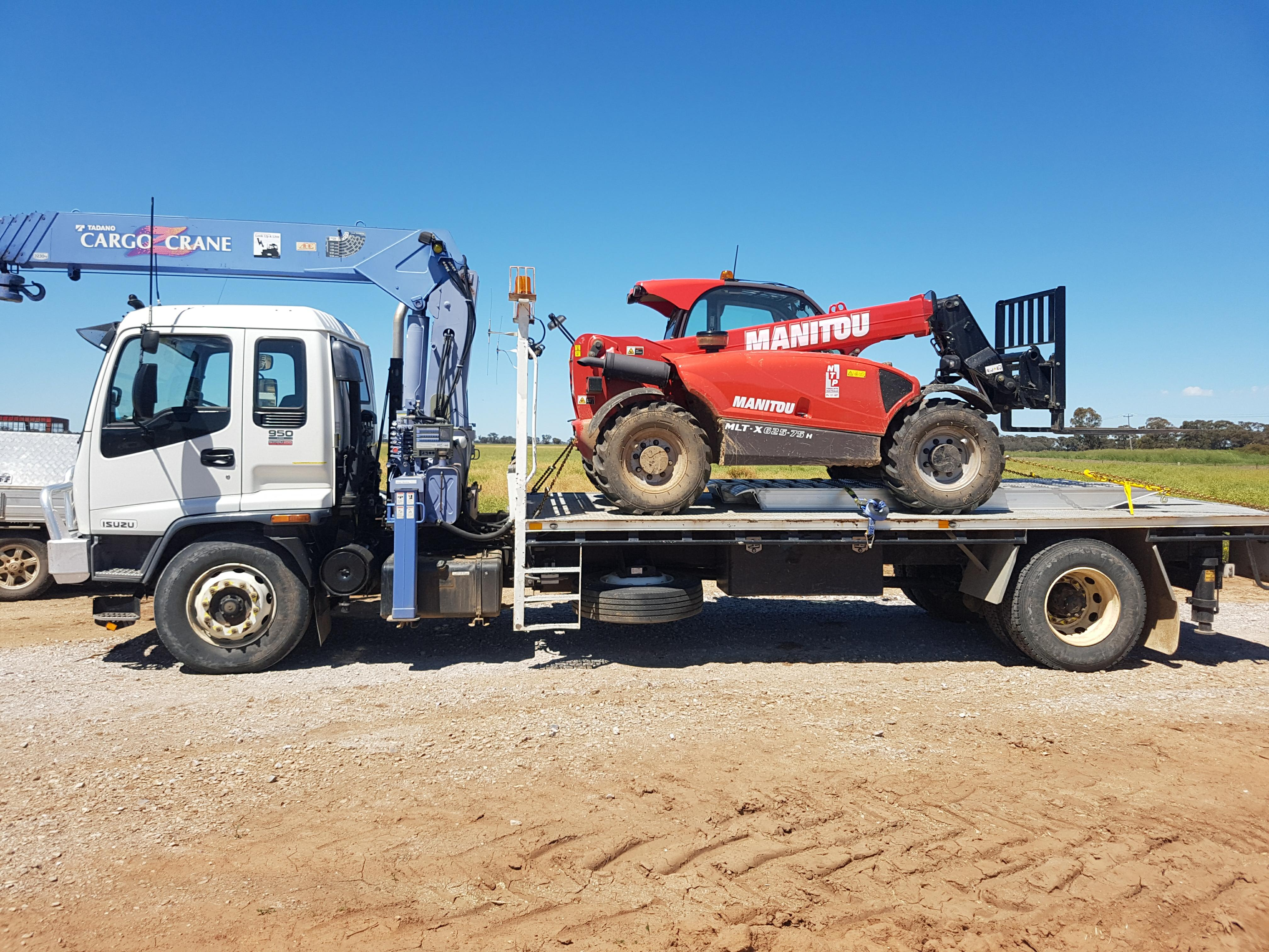 Truck and Manitou