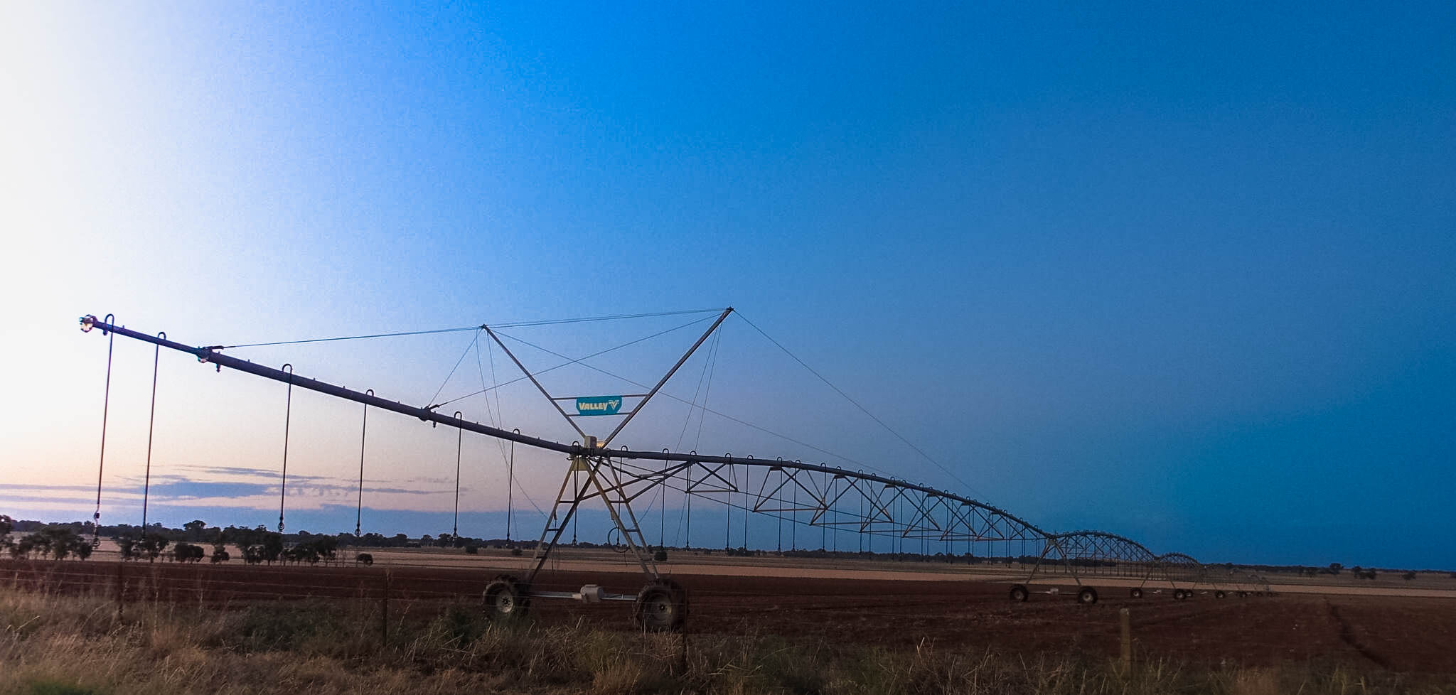 Valley Irrigator with Sunset