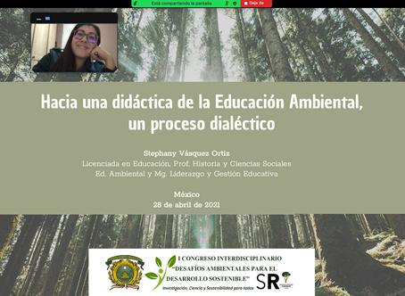 Stephany Vásquez Ortiz participa en 2 Congresos Latinoamericanos sobre educación ambiental