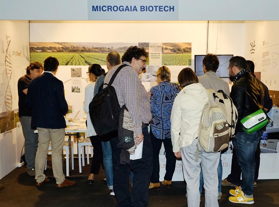 Stand de Microgaia Biotech en Future IPM 3.0