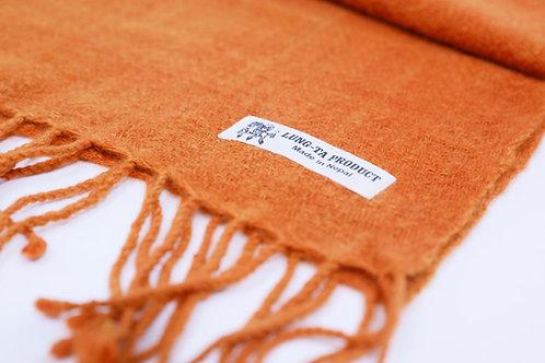 パシュミナ100%マフラー(手紡ぎ・手織り 26cm×170cm)