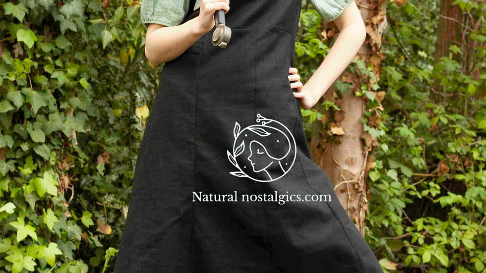 Viking period linen apron dress, reenactment shield maiden costume