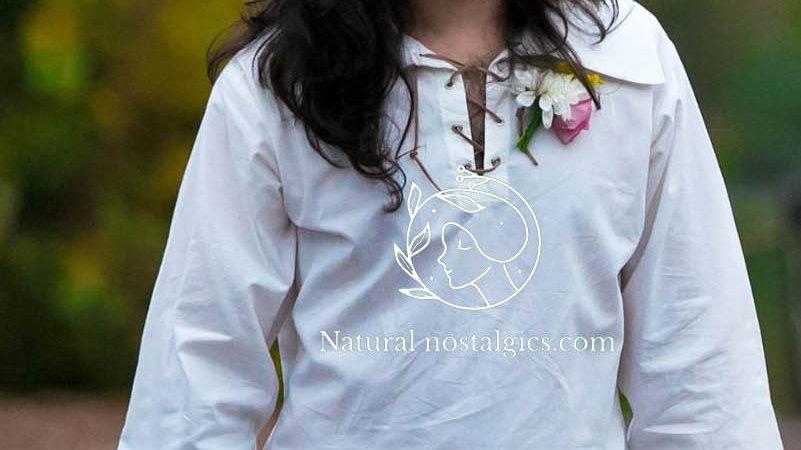 Casual linen man shirt with cuffs and collar , wedding shirt, white summer shirt