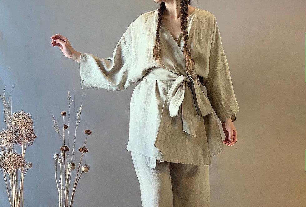 The Wrap Kimono (Linen)