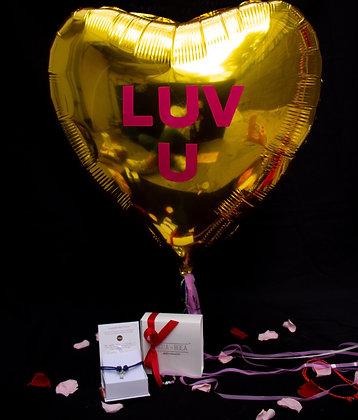 Cruz en Cordiño   Caja Pretzels    Globo Corazón Gigante