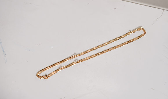 Cadena de Plata con Baño de Oro 14 gramos