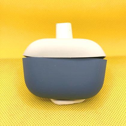 Air Pod Pro Case Silicon Azul con Gris