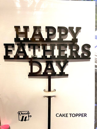 Cake Topper Happy Father's Day Negro