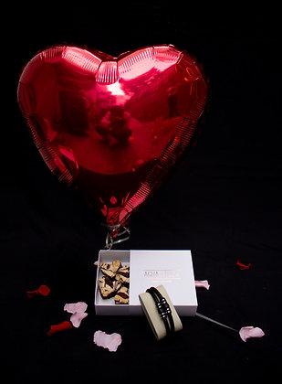 Pulsera Hombre | Caja Brownies de Corazón |Globo de Corazón