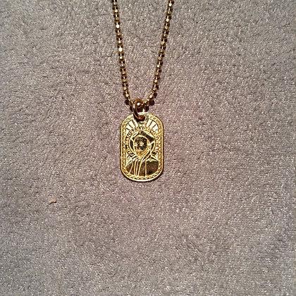 Cadena con Medalla de San Ignacio de Loyola Dorada