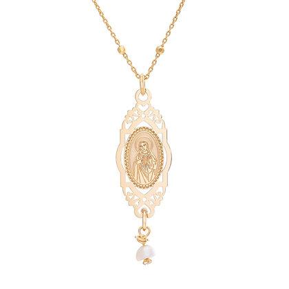 Cadena Sagrado Corazón de María dorada