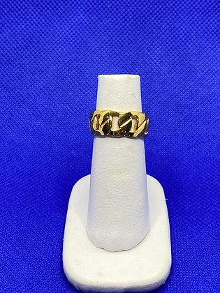 Anillo Cadena Baño de Oro talla 6.5