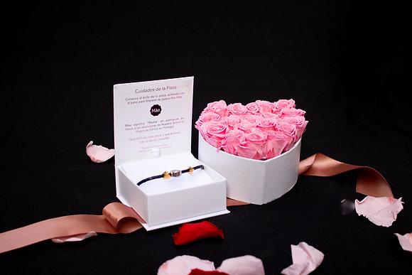 Pulsera de Caucho Escapulario | Corazón Flores Preservadas