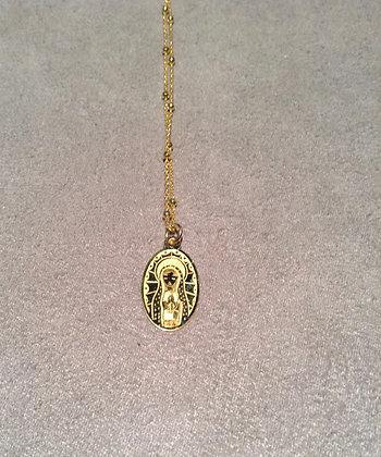 Cadena con Medalla de Virgen de Guadalupe Grande Dorado