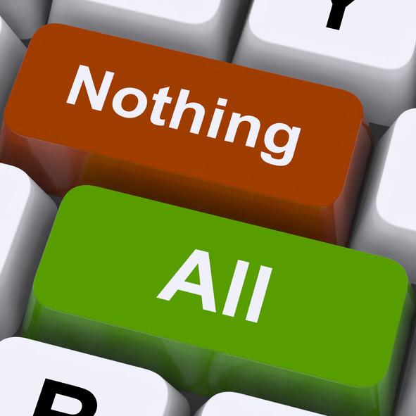 """Pensamiento del """"Todo"""" ó """"Nada""""...1 Paso para adelante y 2 para atrás!"""