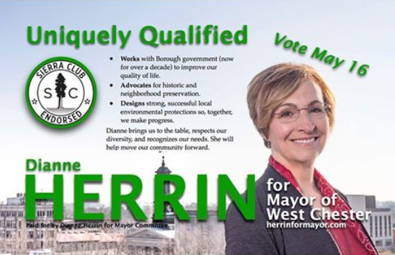 Here comes another Dianne Herrin for Mayor mailing. You're hearing a lot from us, from signs to mailers, because we have incredible supporters. Thank you to everyone!