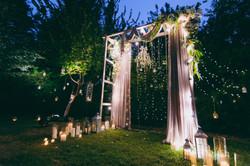 Cristalyne Celebrations- Whimsical Night Ceremony Setup