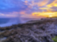 Blow Holes in Grand Cayman at Sunset.jpeg